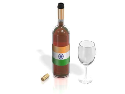 Baisse des taux d'importation de vin en Inde