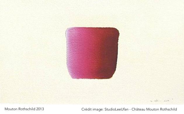 Mouton Rothschild 2013 joue sur l'intensité et l'harmonie avec l'artiste Lee Ufan